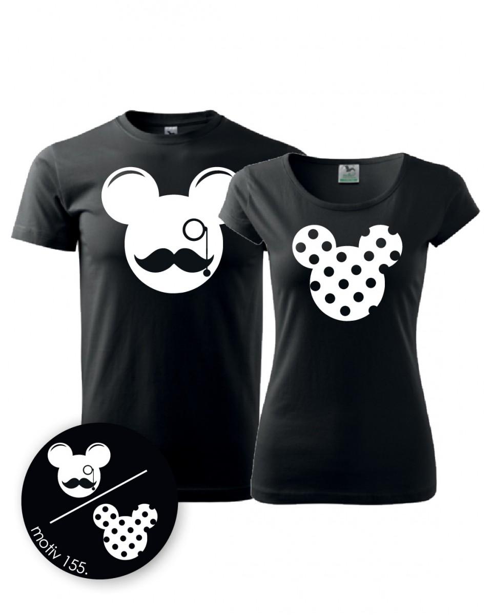 Trička pro páry Mickey Mouse 155 černé  ee0c97a7c4