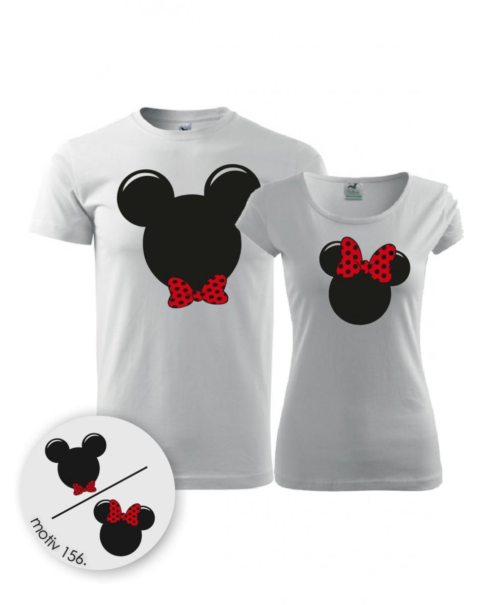 1c6a5ca3feef Trička pro páry Mickey Mouse 156 bílé